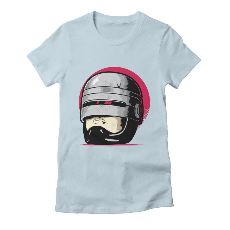 Robocop's Head Women's Fitted T-Shirt by benedictlarazo's Artist Shop