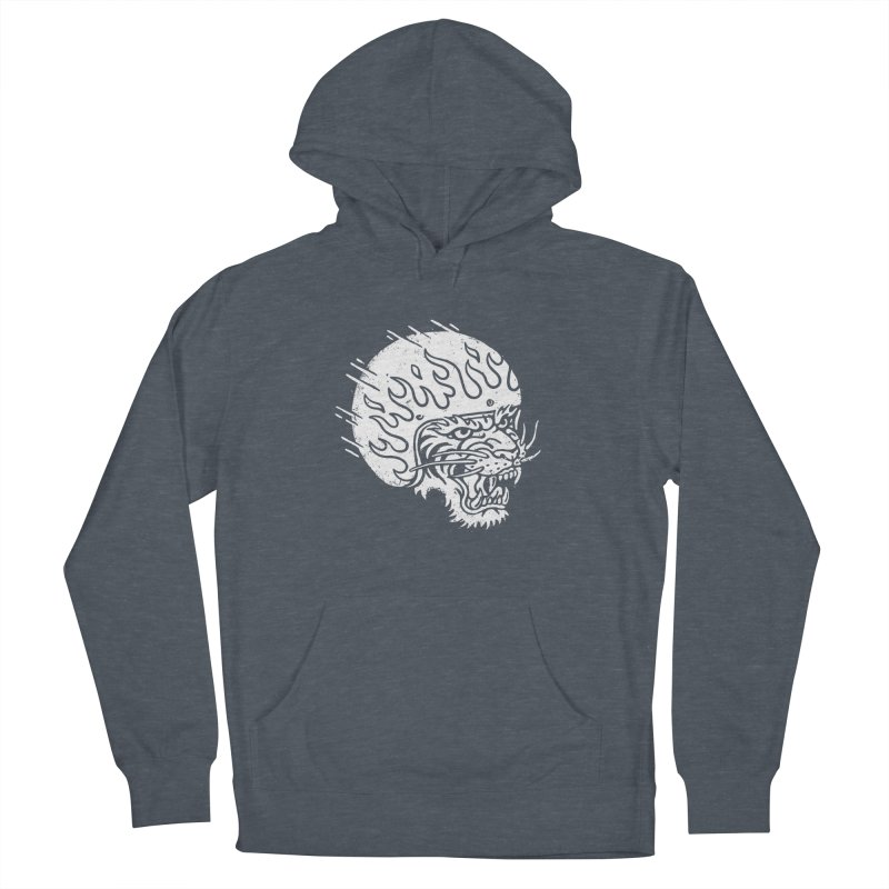 Speed Tiger Men's French Terry Pullover Hoody by Ben Harman Design