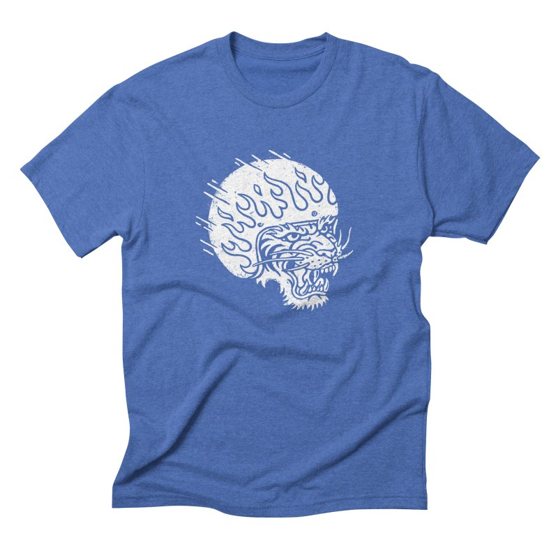 Speed Tiger Men's Triblend T-shirt by Ben Harman Design