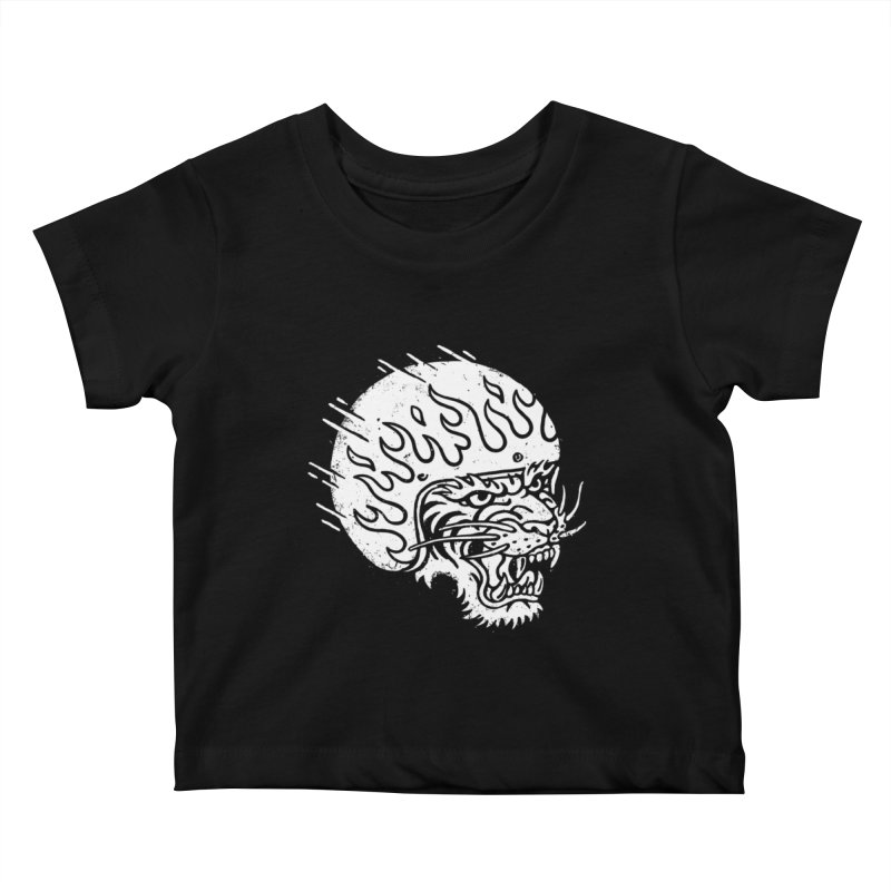 Speed Tiger Kids Baby T-Shirt by Ben Harman Design