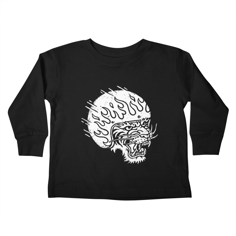 Speed Tiger Kids Toddler Longsleeve T-Shirt by Ben Harman Design