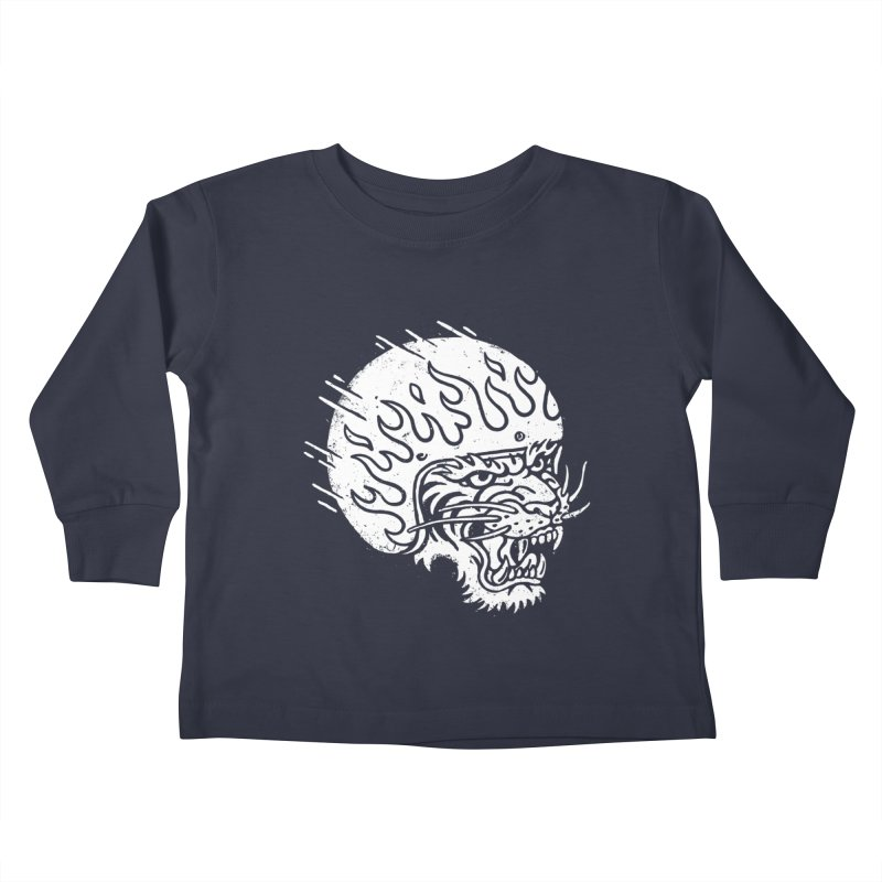 Speed Tiger Kids Toddler Longsleeve T-Shirt by Ben Harman Design