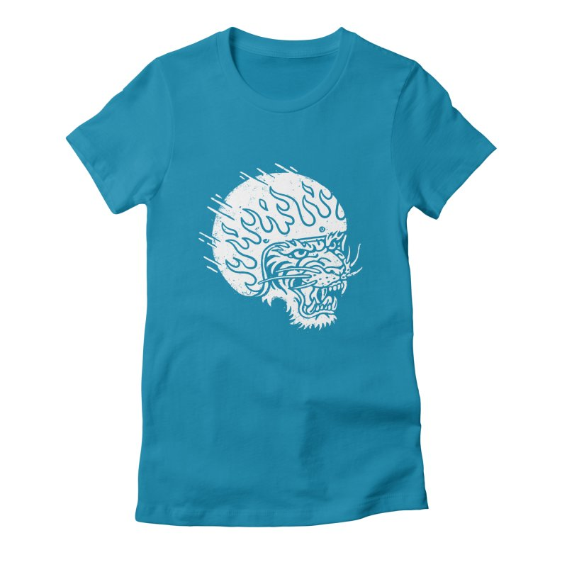 Speed Tiger Women's Fitted T-Shirt by Ben Harman Design