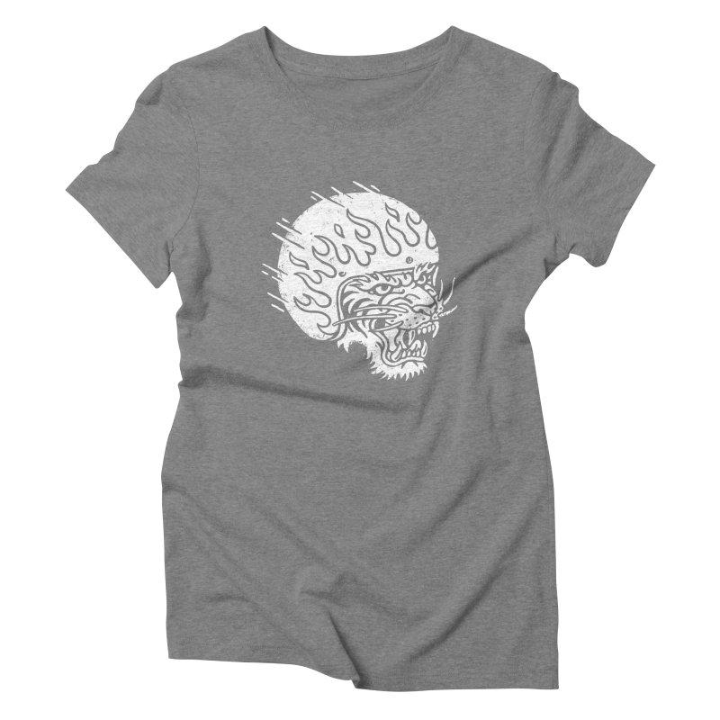 Speed Tiger Women's Triblend T-Shirt by Ben Harman Design