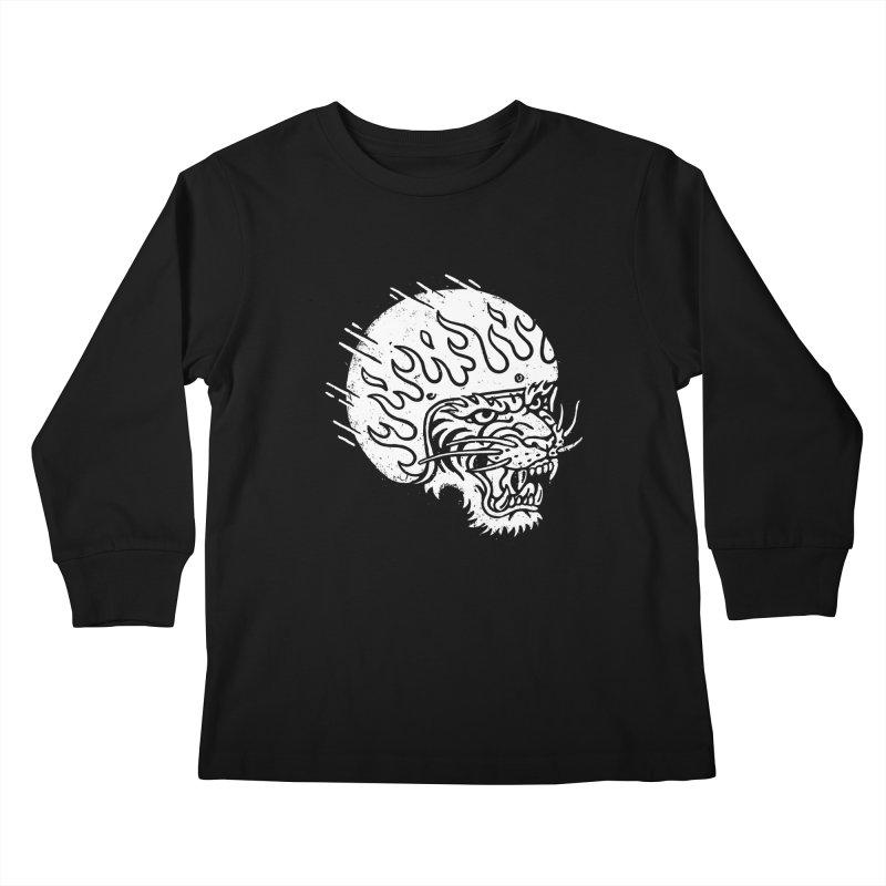 Speed Tiger Kids Longsleeve T-Shirt by Ben Harman Design