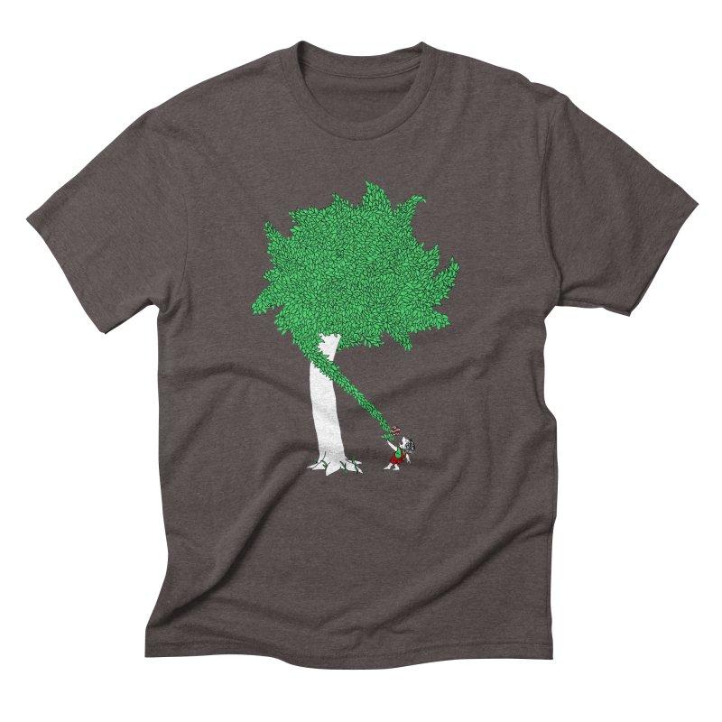 The Taking Tree Men's Triblend T-Shirt by Ben Harman Design