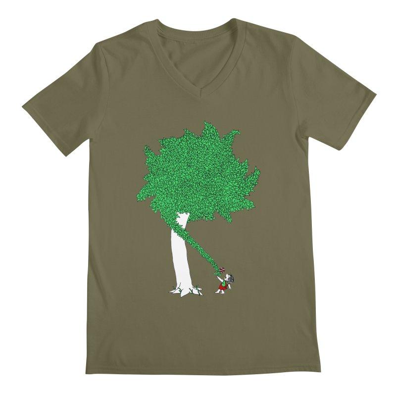 The Taking Tree Men's Regular V-Neck by Ben Harman Design