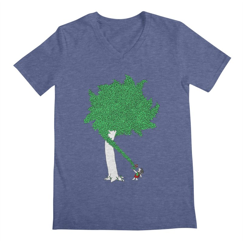 The Taking Tree Men's V-Neck by Ben Harman Design
