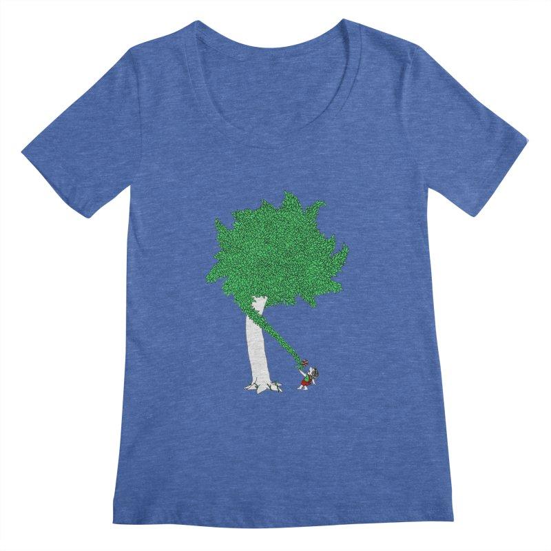 The Taking Tree Women's Scoopneck by Ben Harman Design