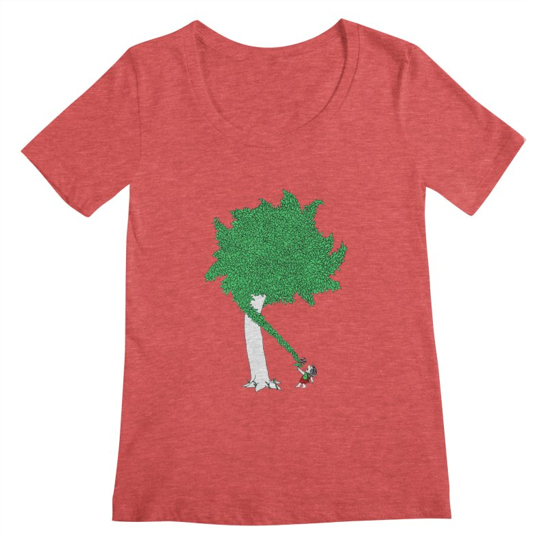 The Taking Tree Women's Scoopneck by Ben Harman Design