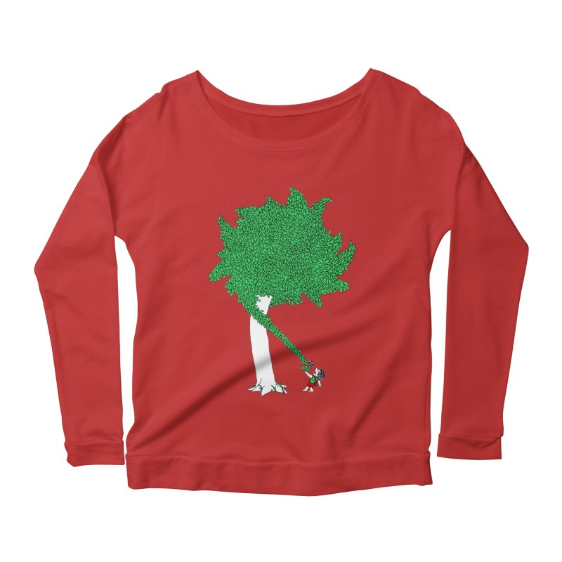 The Taking Tree Women's Longsleeve Scoopneck  by Ben Harman Design