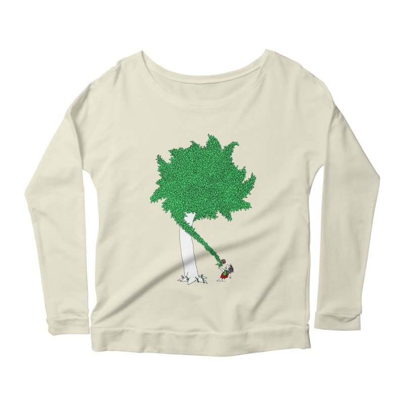 The Taking Tree Women's Scoop Neck Longsleeve T-Shirt by Ben Harman Design