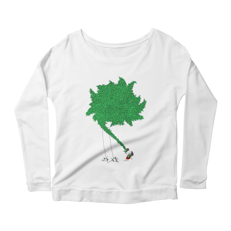 The Taking Tree Women's Scoop Neck Longsleeve T-Shirt by Ben Harman Design