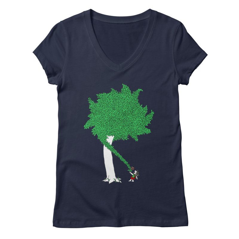 The Taking Tree Women's Regular V-Neck by Ben Harman Design