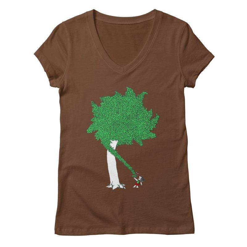 The Taking Tree Women's Regular V-Neck by Ben Harman Design