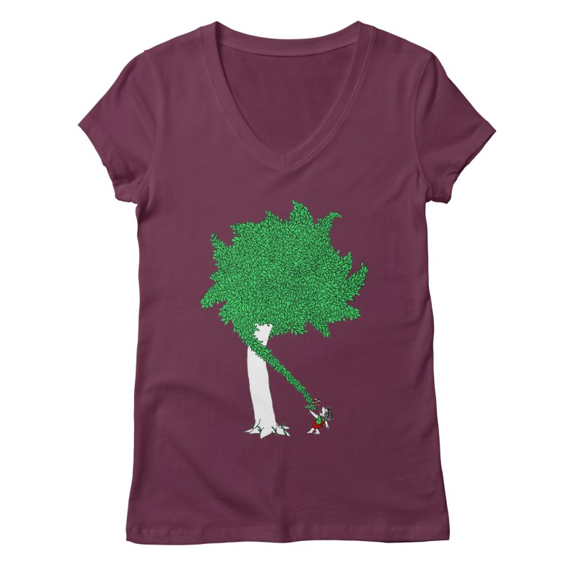 The Taking Tree Women's V-Neck by Ben Harman Design