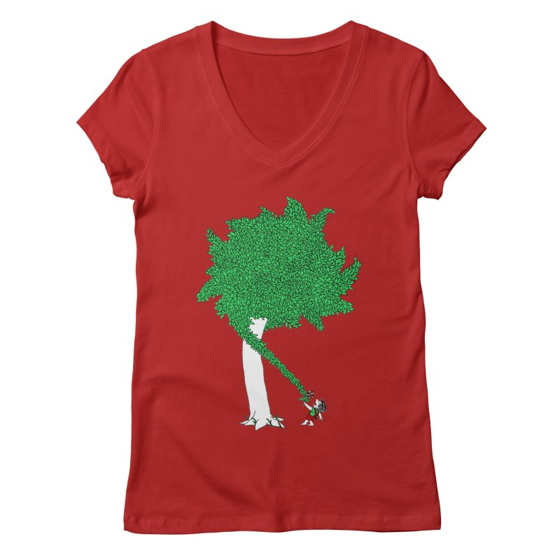 The Taking Tree Women's V-Neck by Ben Harman Design
