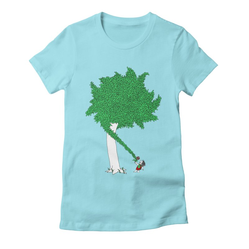 The Taking Tree Women's Fitted T-Shirt by Ben Harman Design