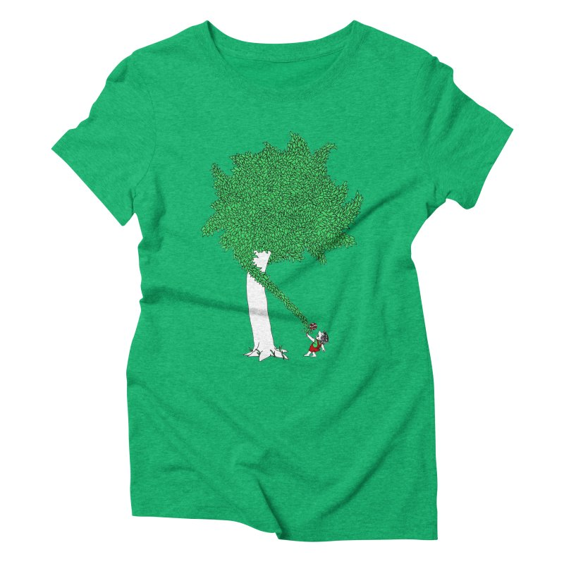 The Taking Tree Women's Triblend T-Shirt by Ben Harman Design