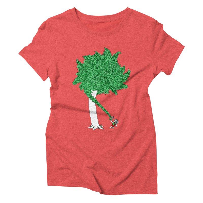 The Taking Tree Women's Triblend T-Shirt by Ben Harman Design