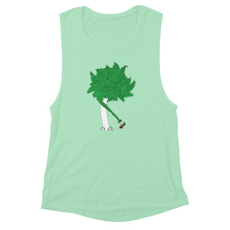 The Taking Tree Women's Muscle Tank by Ben Harman Design