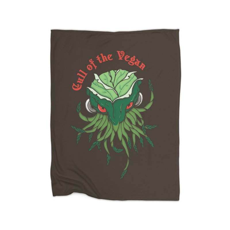 Cull of the Vegan Home Fleece Blanket by Ben's Shirt Shop of AwesomeShop