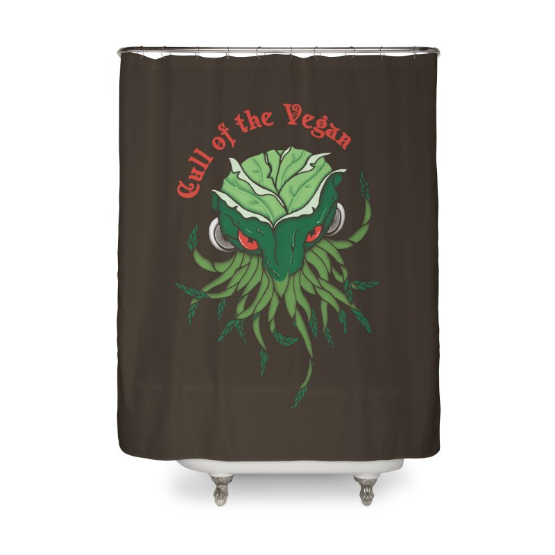 Cull of the Vegan Home Shower Curtain by Ben's Shirt Shop of AwesomeShop