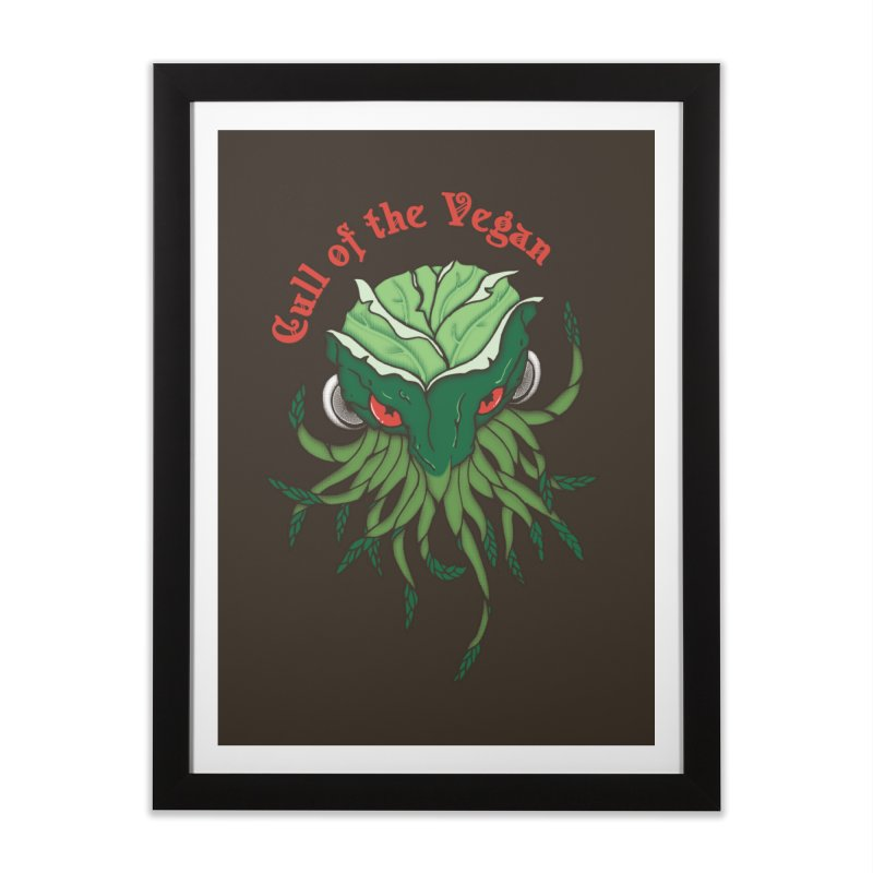 Cull of the Vegan Home Framed Fine Art Print by Ben's Shirt Shop of AwesomeShop