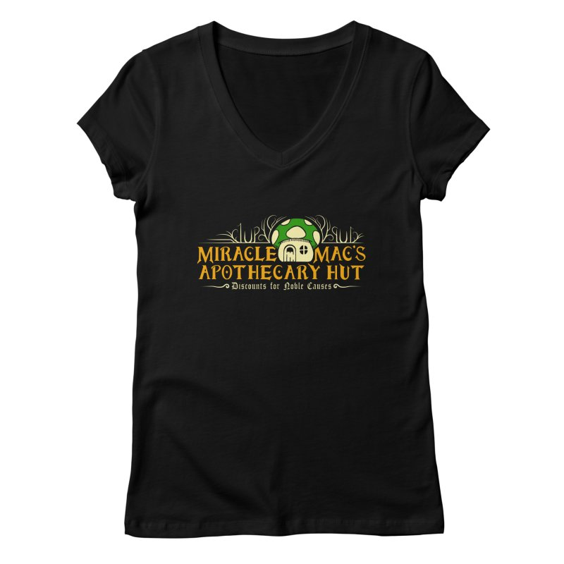 Miracle Mac's Women's V-Neck by Ben's Shirt Shop of AwesomeShop