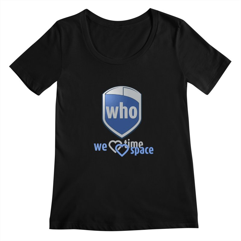 Who Delivery Service Women's Scoopneck by Ben's Shirt Shop of AwesomeShop