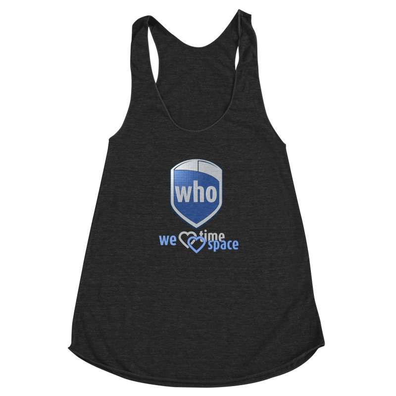 Who Delivery Service Women's Racerback Triblend Tank by Ben's Shirt Shop of AwesomeShop