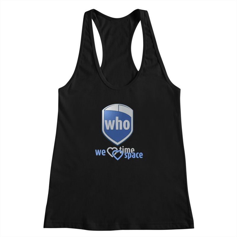Who Delivery Service Women's Racerback Tank by Ben's Shirt Shop of AwesomeShop