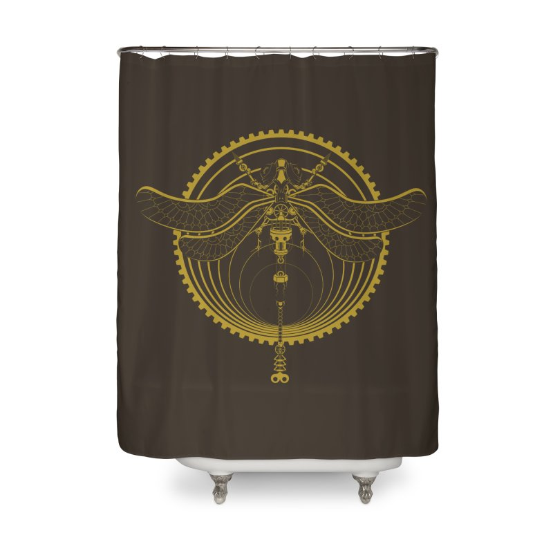 Mechafly Home Shower Curtain by Ben's Shirt Shop of AwesomeShop