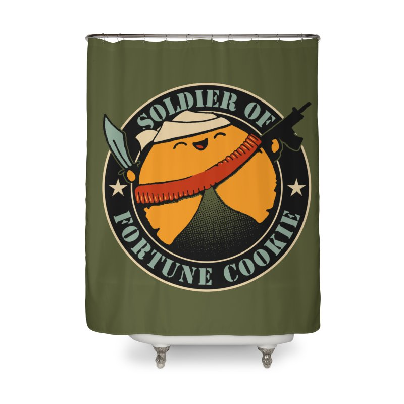 Soldier of Fortune Cookie Home Shower Curtain by Ben's Shirt Shop of AwesomeShop
