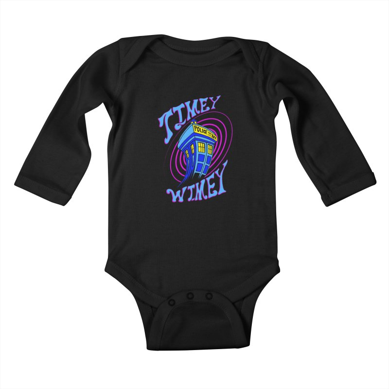 Timey Wimey Kids Baby Longsleeve Bodysuit by Ben's Shirt Shop of AwesomeShop