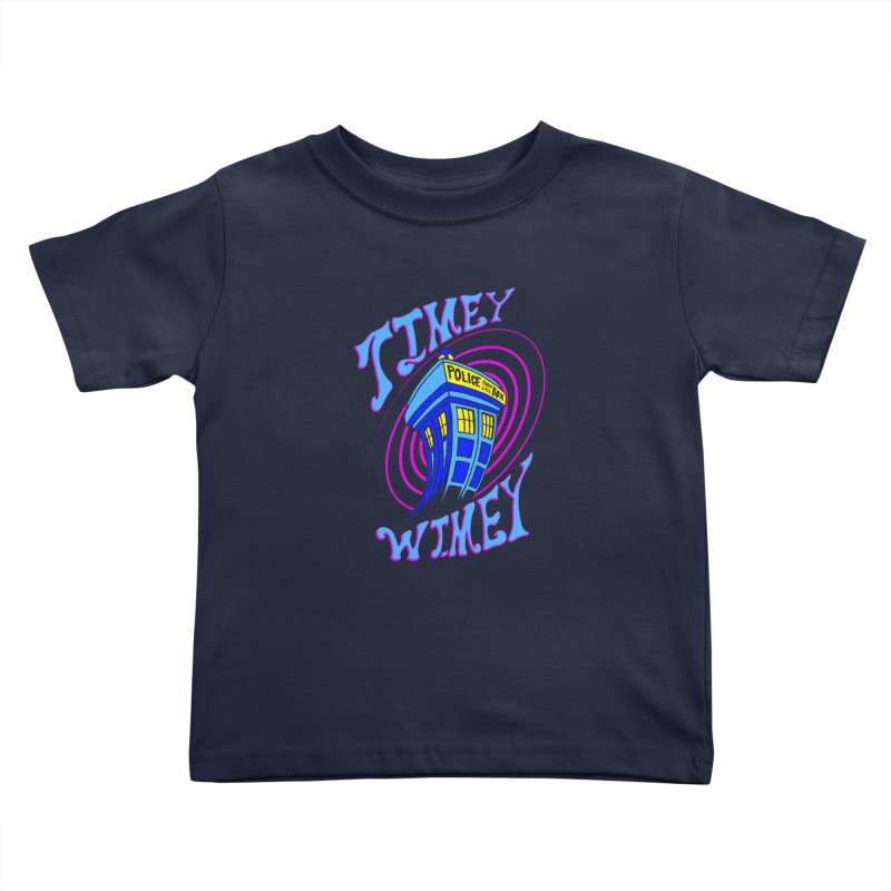 Timey Wimey Kids Toddler T-Shirt by Ben's Shirt Shop of AwesomeShop