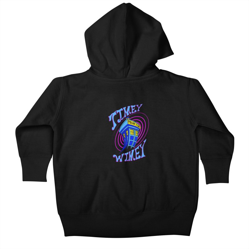 Timey Wimey Kids Baby Zip-Up Hoody by Ben's Shirt Shop of AwesomeShop