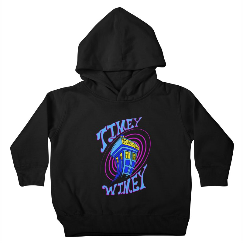 Timey Wimey Kids Toddler Pullover Hoody by Ben's Shirt Shop of AwesomeShop