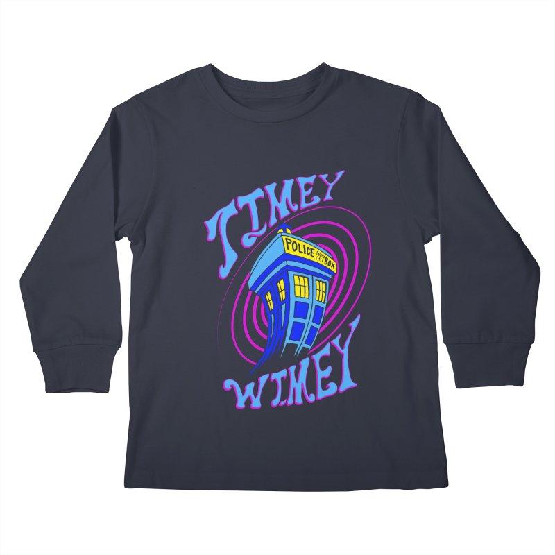 Timey Wimey Kids Longsleeve T-Shirt by Ben's Shirt Shop of AwesomeShop