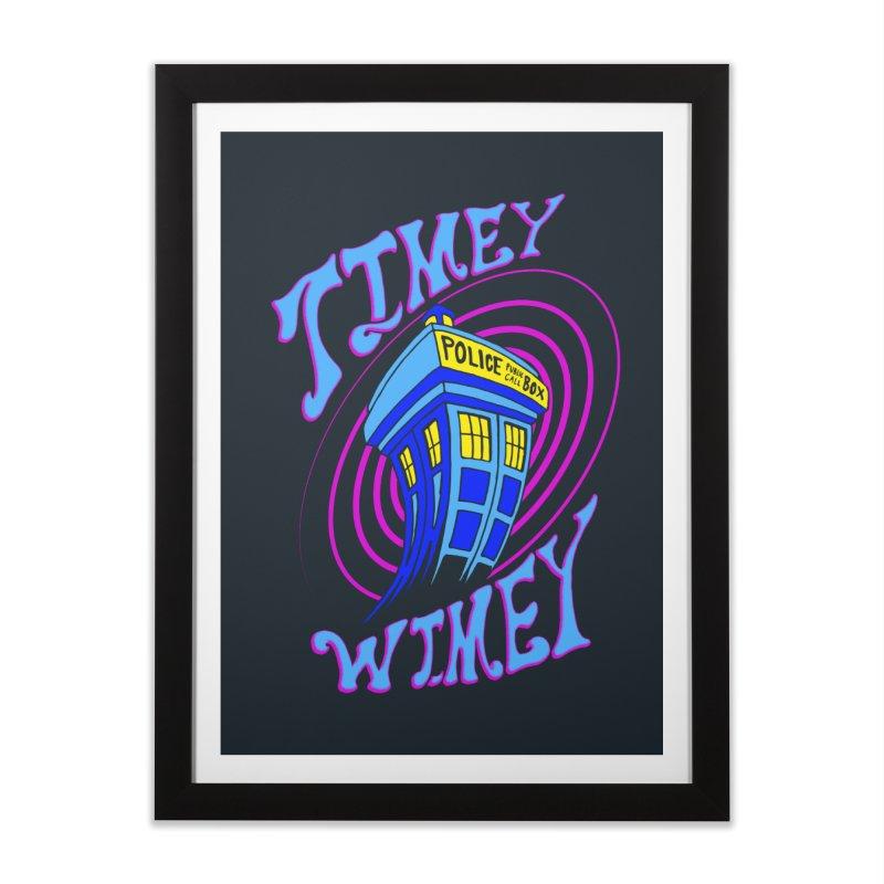 Timey Wimey Home Framed Fine Art Print by Ben's Shirt Shop of AwesomeShop