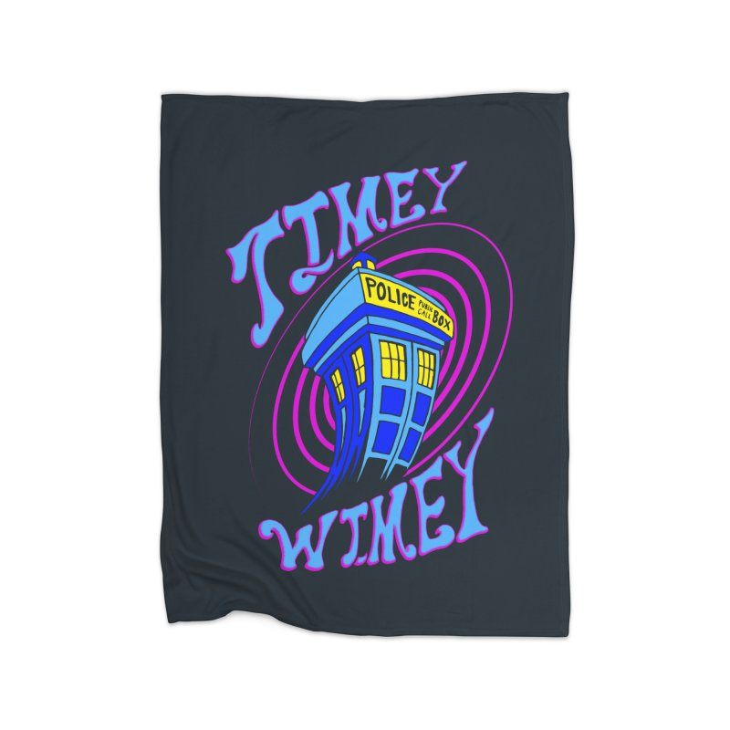 Timey Wimey Home Fleece Blanket by Ben's Shirt Shop of AwesomeShop