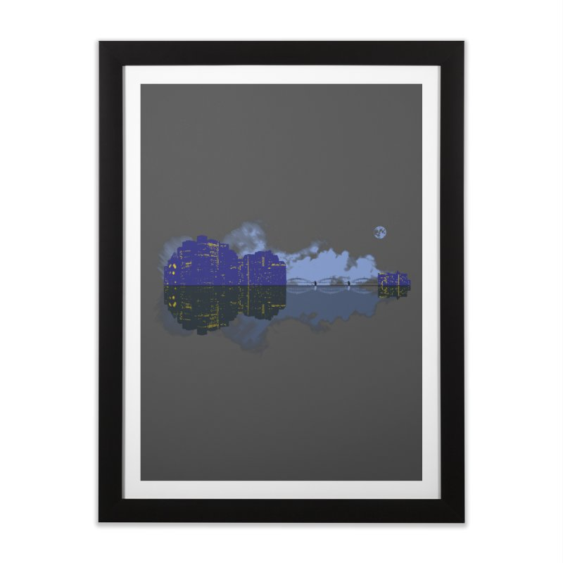 City of Music Home Framed Fine Art Print by Ben's Shirt Shop of AwesomeShop