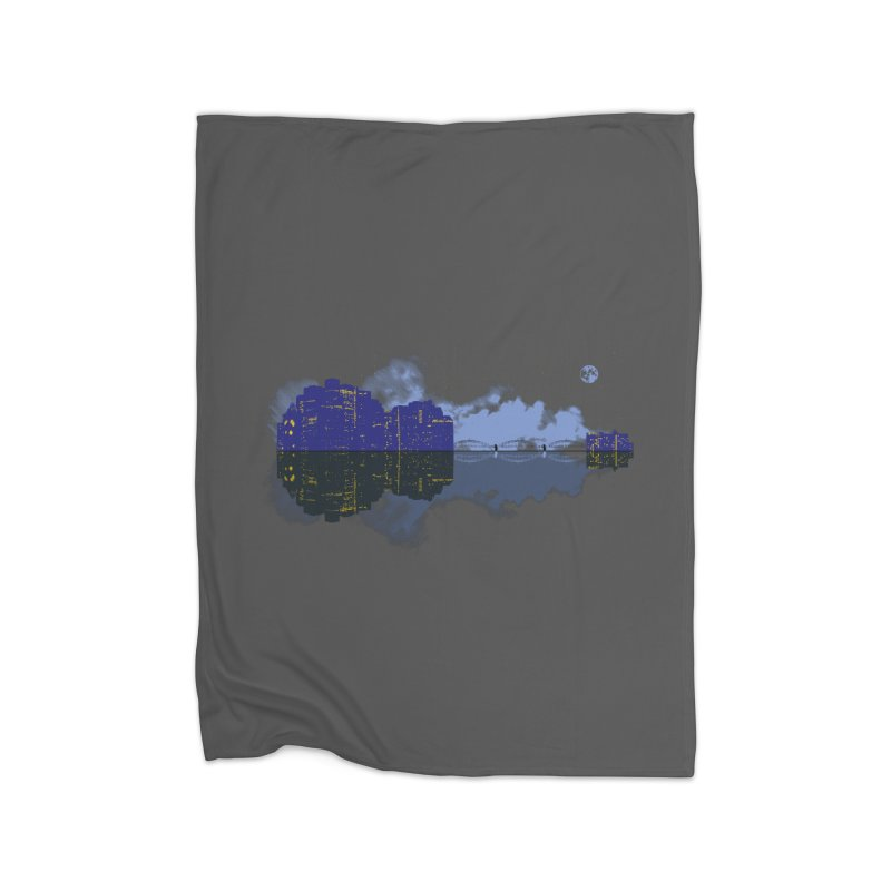 City of Music Home Fleece Blanket by Ben's Shirt Shop of AwesomeShop