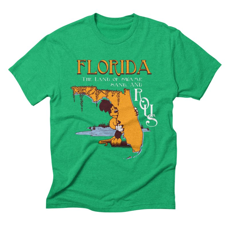 Florida Rodents Men's Triblend T-shirt by Ben's Shirt Shop of AwesomeShop