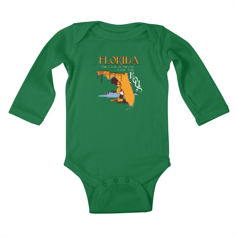 Florida Rodents Kids Baby Longsleeve Bodysuit by Ben's Shirt Shop of AwesomeShop