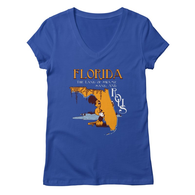 Florida Rodents Women's V-Neck by Ben's Shirt Shop of AwesomeShop