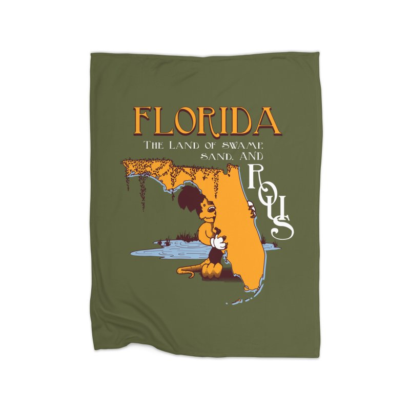 Florida Rodents Home Fleece Blanket by Ben's Shirt Shop of AwesomeShop