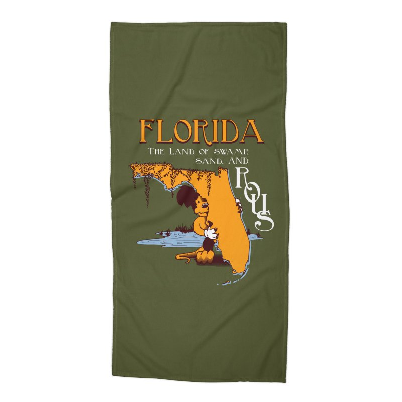 Florida Rodents Accessories Beach Towel by Ben's Shirt Shop of AwesomeShop