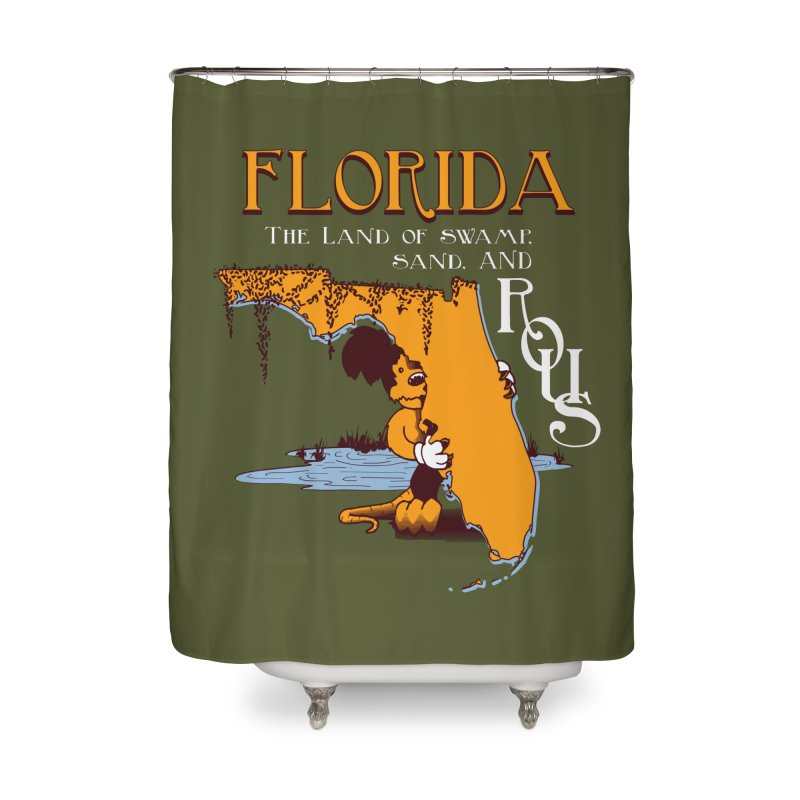 Florida Rodents Home Shower Curtain by Ben's Shirt Shop of AwesomeShop