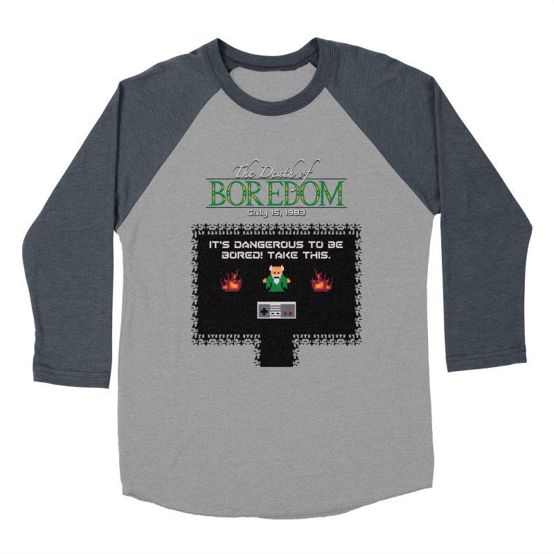 The Legend of Boredom Women's Baseball Triblend T-Shirt by Ben's Shirt Shop of AwesomeShop